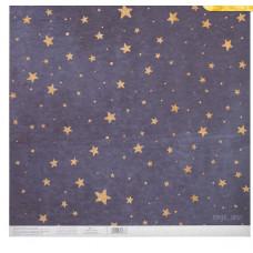 Бумага для скрапбукинга с блёстками «Сияние звёзд», 30,5 х 30,5 см