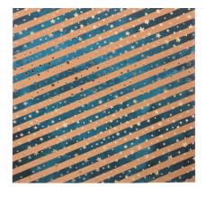 Бумага для скрапбукинга крафтовая с фольгированием «Северное сияние», 20 × 20 см