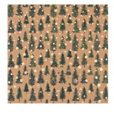 Бумага для скрапбукинга крафтовая с фольгированием «Сказочный лес», 20 × 20 см