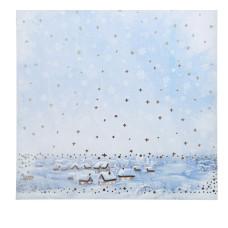 Бумага для скрапбукинга с фольгированием «Зимнее утро», 20 × 20 см