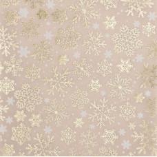 Калька декоративная c фольгированием «Снежинки», 15,5 х 15,5 см