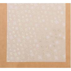 Калька декоративная c фольгированием «Зимнее утро», 30,5 × 30,5 см