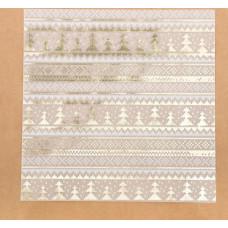 Калька декоративная c фольгированием «Теплая зима», 30,5 × 30,5 см