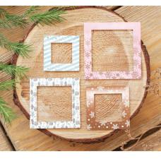 Рамочки декоративные для скрапбукинга с фольгированием «Тёплые объятия», 8 × 11 см