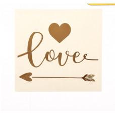 Наклейка‒переводка с фольгированием Love, 10 × 10 см