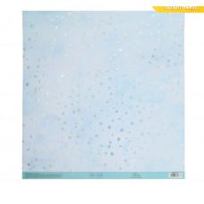 Бумага для скрапбукинга с голографическим фольгированием «Сияние», 30.5 × 32 см