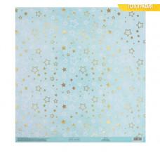 Бумага для скрапбукинга с голографическим фольгированием «Живи мечтой», 30.5 × 32 см