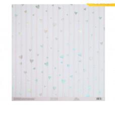 Бумага для скрапбукинга с голографическим фольгированием «Воздушные мечты», 30.5 × 32 см