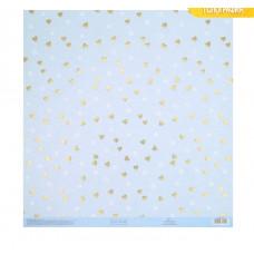 Бумага для скрапбукинга с голографическим фольгированием «Романтика», 30.5 × 32 см