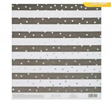Бумага для скрапбукинга с голографическим фольгированием «Утонченность», 20 × 21.5 см