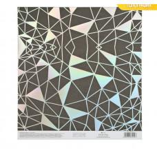 Бумага для скрапбукинга с голографическим фольгированием «Метаморфозы», 20 × 21.5 см