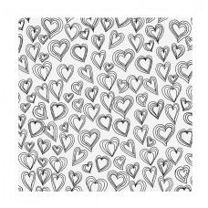 АЦЕТАТНЫЙ ЛИСТ HEARTS от AMERICAN CRAFTS