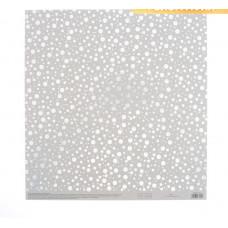 Бумага для скрапбукинга жемчужная «Капельки дождя», 30,5 × 32 см, 250г/м