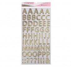 Чипборд‒алфавит на клеевой основе с фольгированием «Мама моя лучшая подруга», 14 × 27.5 см