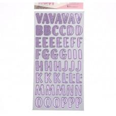 Чипборд‒алфавит на клеевой основе с фольгированием «Цветочная галерея», 14 × 27.5 см