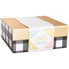 """Коробка для хранения """"Desktop Storage Magnetic Box Small"""" от Crate Paper"""
