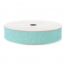 Лента с глиттером Solid Glitter Ribbon от American Crafts AQUA, 3 ярда