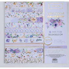 Набор бумаги для скрапбукинга с фольгированием «Цветочная галерея», 30.5 × 30.5 см