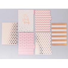 Набор картонных разделителей для планера «Розовые облака»