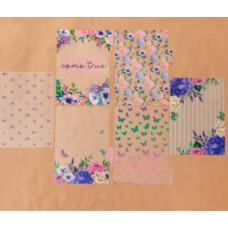 Набор ацетатных разделителей для планера «Цветы», 16 × 25 см, 6 листов