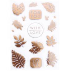 Наклейки пластиковые For you with love, 11 × 19 см