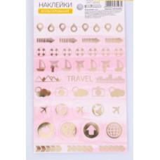 Наклейки пластиковые Travel, 11 × 19 см