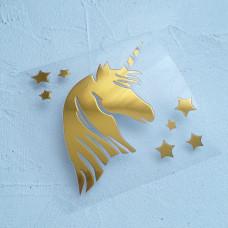 """Картинка из термотрансфера """" Единорог со звездами"""""""