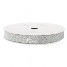 Лента с глиттером Solid Glitter Ribbon от American Crafts SILVER, 3 ярда