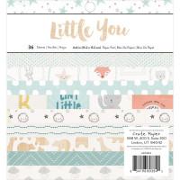 Набор бумаги - Boy - 6x6 Paper Pad - Little You - Crate Paper