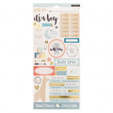 "Набор стикеров Crate Paper ""Little you"" boy, 15*30 см, 2 листа"