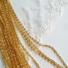 Цепочка 2,3 мм, цвет золото, 50 см