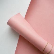 Переплётный кожзам - розовый матовый 35*50