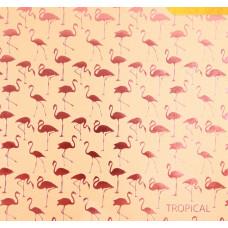 Бумага жемчужная с фольгированием «Тропики», 20 х 20 см, 250 г/м