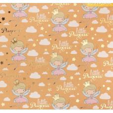 Бумага крафтовая для скрапбукинга с фольгированием «Маленькая принцесса», 20 х 20 см, 250 г/м