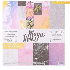 Набор бумаги для скрапбукинга с фольгированием Magic time