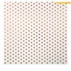 Бумага для скрапбукинга «Крупный горох», 30,5 х 30,5 см, 180 г/м