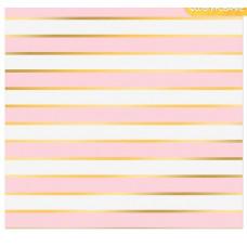 Бумага в листах «Розовые полосы»,  30,5 х 30,5 см, 180 г/м