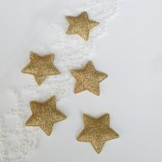 Звезда золото глиттер