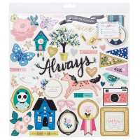 Чипборд Willow Lane от Crate Paper