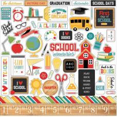 """Набор стикеров (наклеек) """"Back to School"""" от Echo Park"""