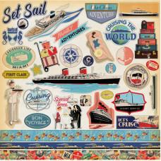 """Набор стикеров (наклеек) """"Let's Cruise"""" от Carta Bella"""