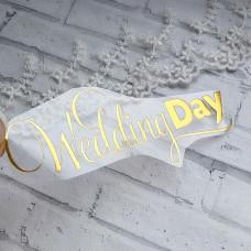 """Надпись из термотрансфера """"Wedding Day"""""""