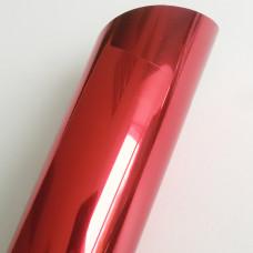 Термотрансферная пленка,  металлик красная
