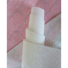 Ткань с глиттером белая