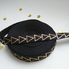 Резинка черная золотой треугольник 90см