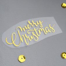 """Надпись из термотрансфера """"Merry Christmas"""""""