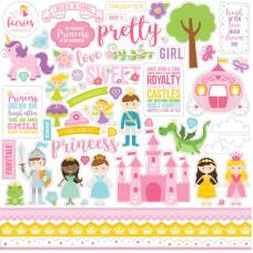 """Набор стикеров (наклеек) """"Perfect Princess """" от Echo Park"""