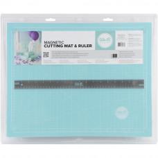 Магнитный мат для резки c линейкой - Magnetic Cutting Mat and Ruler - We R Memory Keepers