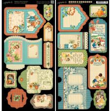 "Набор высечек Children's Hour Cardstock Die-Cuts 6""X12"" Sheets 2/Pkg"
