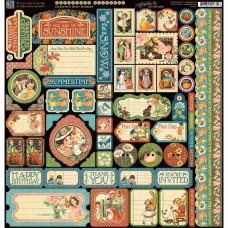 "Набор стикеров Children's Hour Cardstock Stickers 12""X12"""